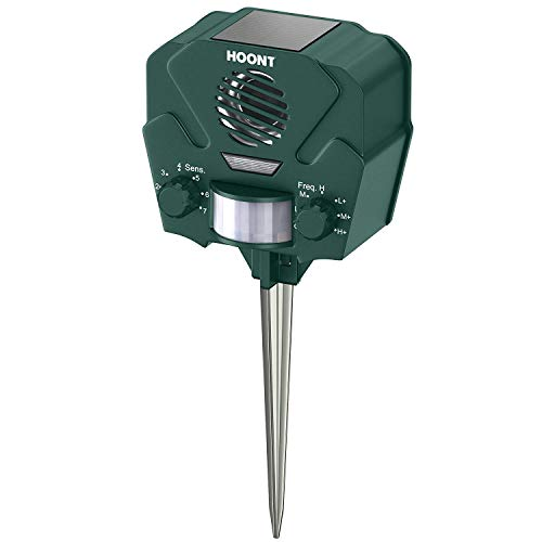 Hoont Advanced Motion Activated Solar Powered Ultrasonic with Flashing Strobe O, Green
