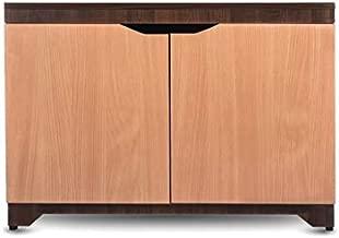 "Shoey Large by Casagroves Wood 32"" x 15"" x 24"" Shoe Rack 3 Slots (Engineered Wood Dual Tone-Maple Brown, Bavarian Beach)"