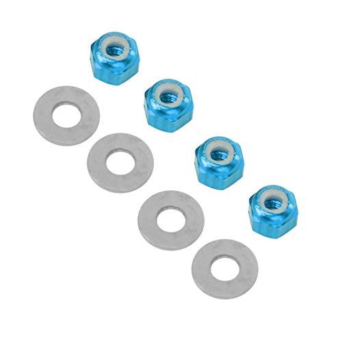 SALUTUYA Radmutter mit eloxierter Oberfläche Super rutschfeste RC-Radmutter zur Verbesserung des ferngesteuerten Autos für RC-Autos(Blue A949-49R)