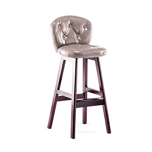 Tuqia meubels huishoudstoel, massief houten houder keuken teller stoel creatieve pu zitting hocker bar stoel, 40 * 40 * 102 cm woonkamermeubels stoelen