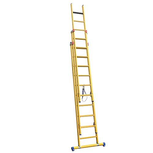 Alumexx Kunststof GVK Ladders 2-Delig - Kunstof -Glasvezelversterkte Kunststof- Ladder - 2 x 14 Sporten - 6,25 m - Isolerend - Onderhoud