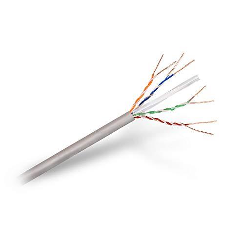 Cable de Red Cat 6, U/UTP, Gris - CU, AWG 24 (sólido), LSZH