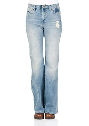 Wrangler Retro Star Flare Fit - Vaqueros para mujer, color azul