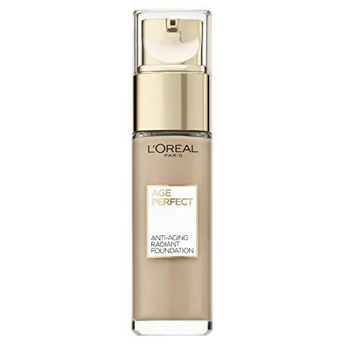 L'Oréal Paris Age Perfect Feuchtigkeitsspendendes Make-up in Nr. 150 beige creme, für reife Haut und einen strahlenden Teint, mit LSF 17, 30 ml