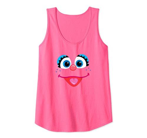 Womens Sesame Street Abby Cadabby Face Tank Top