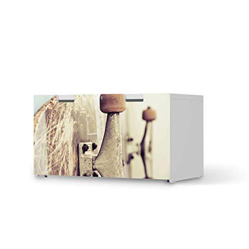 creatisto Kinder Möbel Klebefolie - passend für IKEA Stuva Banktruhe I Tolle Kinderzimmer Einrichtung - Möbelsticker für Kinder- und Babyzimmer I Design: Skateboard