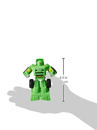 Playskool Heroes Transformers Rescue Bots Boulder the Construction-Bot Figure,Green