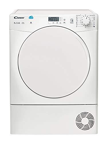 Candy CS C8LF-S Kondenstrockner / 8 kg / Hochliegende Tür / Beladungserkennung / Super Easy Iron-Programm / Babywäsche-Programm / Kurz-Programm / NFC