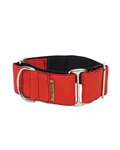 ThePetLover - Halsband Martingale für Hunde, L, Rot und Schwarz