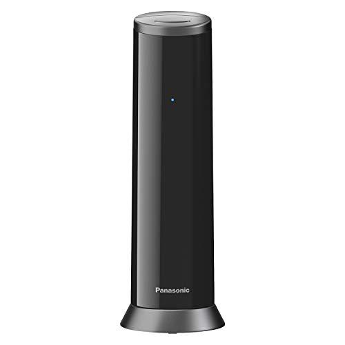 Panasonic KX-TGK220GB Design-Telefon mit Anrufbeantworter (Wecker, Haustelefon (schnurlos), HD-Telefonie, Eco-Plus, Freisprechfunktion) schwarz