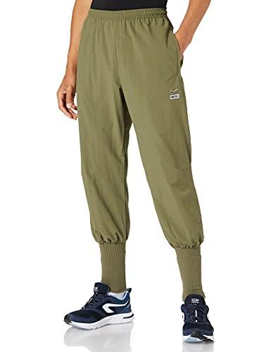 NIKE M NK FC WVN Cuff Pant PZ Pants, Medium Olive/White/(Reflective silv), XL Mens