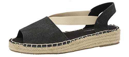 Dunlop DLC133 Minna - Espadrilles para mujer, tacón bajo, color Negro, talla 40 EU