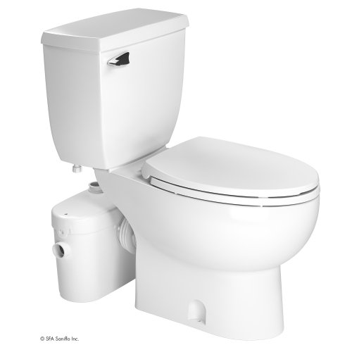 Saniflo Two Piece Elongated Bowl Toilet with Macerating Pump