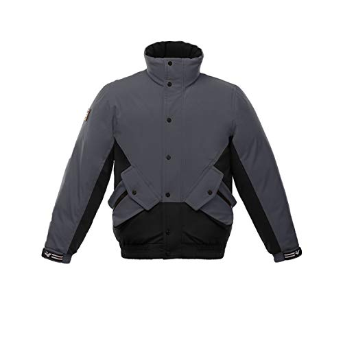 Triple F.A.T. Goose Essex Mens Down Jacket | Originals Collection (Black/Charcoal, Medium)