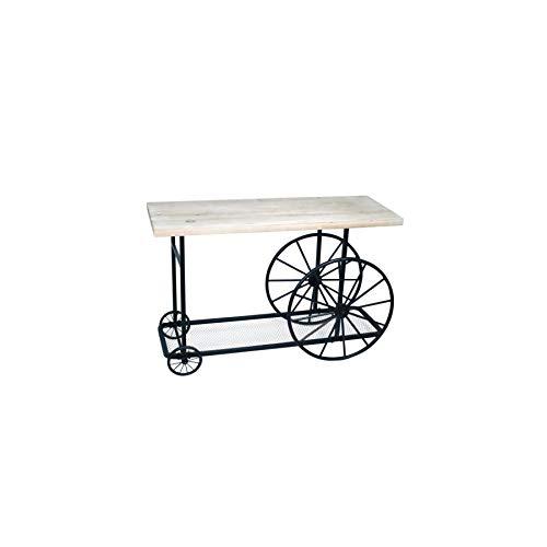 Art Deco Home - Table d'entrée Chariot 120 cm - 15934SG