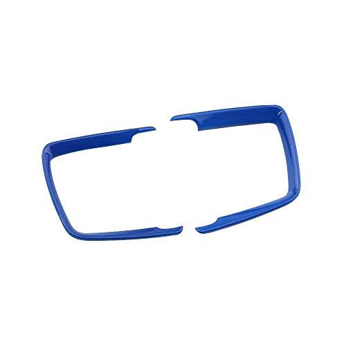 Coche interior faro cabeza interruptor luz botón decoración marco TRIM etiqueta engomada para BMW F30 F31 F32 F34 3 4 Series 320 E46 E90 E39 (azul)