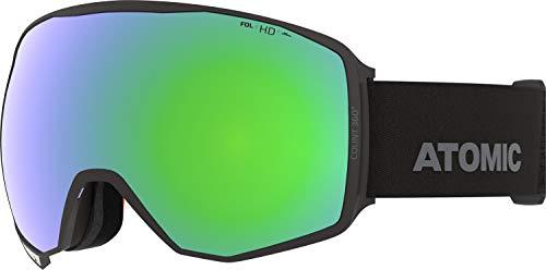 Atomic, All Mountain-Skibrille, Unisex, Für wolkiges bis sonniges Wetter, Large Fit, HD-Technologie, Count 360° HD, Schwarz/Grün HD, AN5106014
