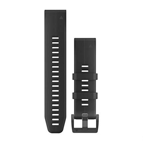 Garmin 010-12740-00 QuickFit 22 Uhrenarmband, Silikon, Zubehör Band für Fenix 5 Plus/Fenix 5, Schwarz