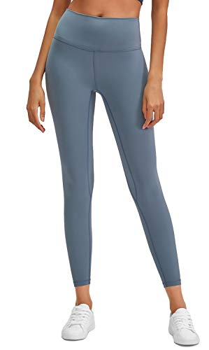 Lavento Women's Ankle Leggings High Waist Tummy Control Yoga Pants -  gray -  Small