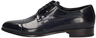 MARINI Zapatos Derby Elegante Hombre B05 141 Piel Azul Original PE New