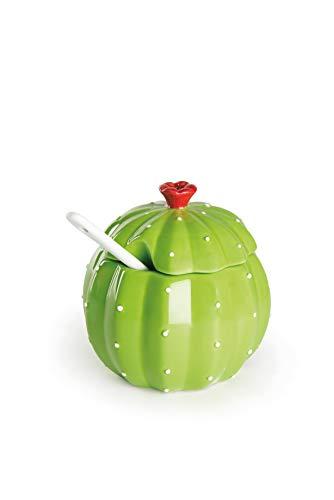 Excelsa Cactus Zuccheriera, Ceramica, Verde