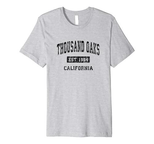 Mens Thousand Oaks California CA Vintage Sports Design Black Desi Premium T-Shirt -  Thousand Oaks CA Retro T-Shirts & Tees