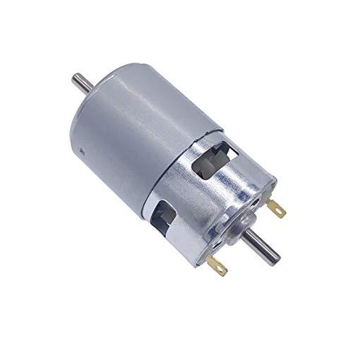 Aojing LHjin-Motores Motor de componente electrónico de Alta Potencia de Baja Potencia de Alta Potencia, 775 Tiro de Doble Bola Doble Eje de Doble Salida de torsión