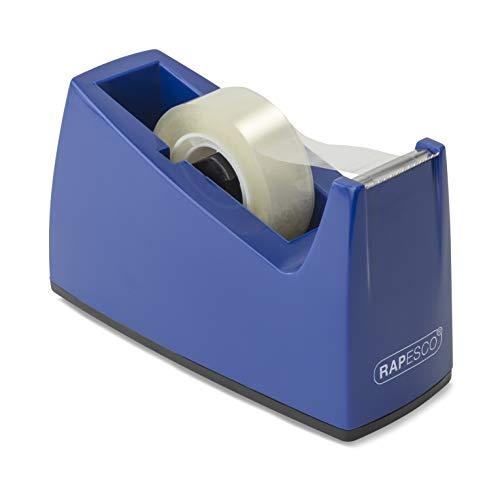 Rapesco 0774 300 Dispensador de Cinta Adhesiva, Cinta No Incluida, Azul