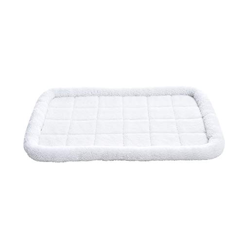 AmazonBasics Padded Pet Bolster Crate Bed Pad, Large (40 x 26 Inches) AmazonBasics Beds Pet products