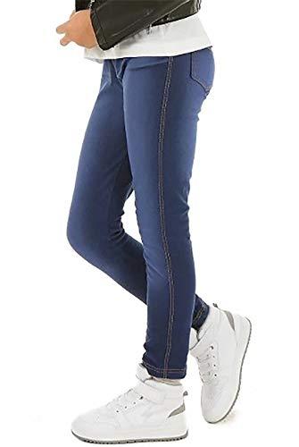 ModaFresca Baumwolle Jeans-Optik Treggings für Mädchen Frühling Sommer Lange Leggings Baby Hose Kinder Sport (Jeans 122)