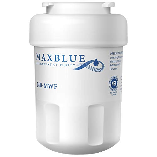 Maxblue MWF Refrigerator Water Filter, Replacement for GE SmartWater, MWFP, MWFA, GWF, HDX FMG-1, WFC1201, GSE25GSHECSS, PC75009, RWF1060, 197D6321P006