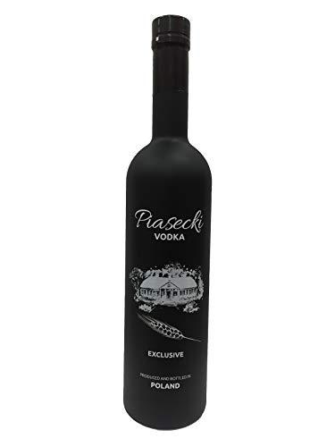 Vodka Piasecki Pure -Black Edt.- 1,0 L 40% Polnischer Wodka aus Weizen und Roggen in der Sonderedition