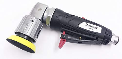 STARKEMUNICH Levigatrice/smerigliatrice Angolare Professionale - Rotazione Rotorbitale - Aria Compressa Pneumatica - 2