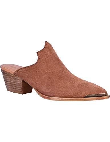 Dingo Womens Knockout Mule Shoes Leather Tan 8.5 M