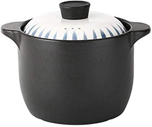 YUEZPKF Praktisch Kasserollegerichte Clay Casserole Pot Terrakotta Eintopf Topf Keramik Kasserolle Clay Kochen Pot-Dauerhafter und effizientes energiesparendes Ernährungs-Upgrade-Non-Stick-Pfanne