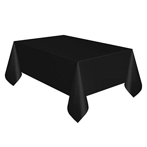 En plastique noir Rectangle Nappe en plastique 137 cm x 274 cm nappe Chiffon Housses facile à nettoyer à l'aide d'un parti Hollywood Casino Thème