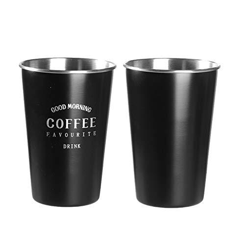 WHYX Tazas café Vaso Termico café,Taza de café Grande de 500 ml, Regalos, Ciervos navideños, Taza de Lavado de Acero Inoxidable, Elegante Taza clásica de Chocolate con Jugo de Leche