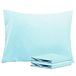 "PACKAGE INCLUDE: 2 Standard size pillowcases (20""x26"") (Pillows are not included.) PREMIUM QUALITY CONSTRUCTION: Top quality microfiber fabric is breathable, stain and wrinkle resistant. Good sewing stitch and exquisite workmanship reduce loose threa..."
