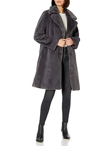 The Drop Women's Kiara Loose-Fit Long Faux Fur Coat