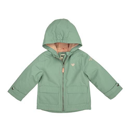 OshKosh B'Gosh Chaqueta de peso medio para niña con forro polar, Verdesalvia, 5-6