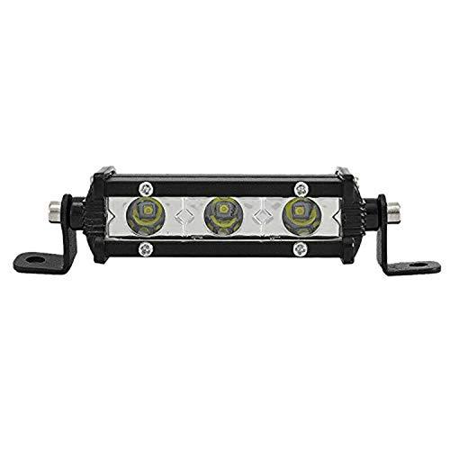 SKYWORLD Einreihige LED-Lichtleiste 4 Zoll 15 W Low Profile Ultradünner, dünner Mini-Scheinwerfer am Grill Vorne Hinten Stoßstange Rückfahrleuchte für LKW ATV UTV SUV 4X4 4WD Trailer