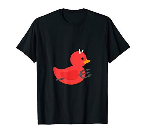 Gummiente Badeente Halloween Teufel Kostüm T-Shirt
