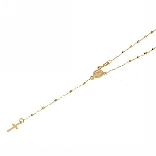 Collar rosario de oro amarillo de 18 quilates