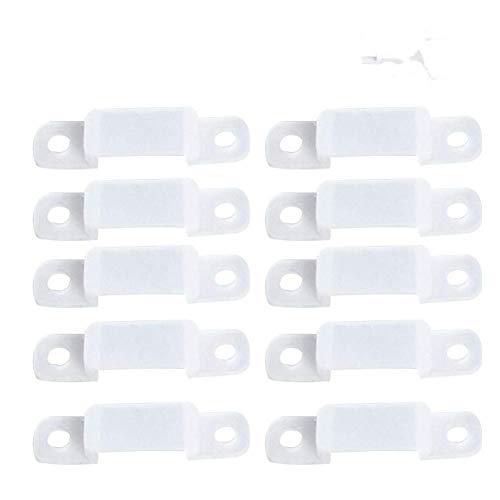 100 Unidades Translucence Silicona Soporte de Montaje para LED Luces de Tira, Clips Fijadores Flexibles de Montaje para Fijación LED Franja Luces 3528 5050 1210(12mm)