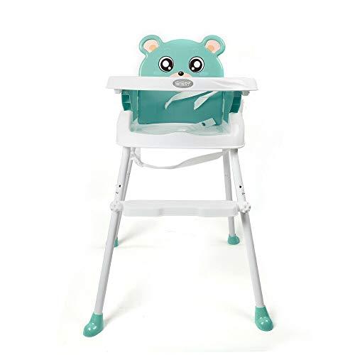 4 in1 Baby Hochstuhl Cabrio Kleinkind Tisch Sitz Booster Säuglingsernährung Stuhl (Green)