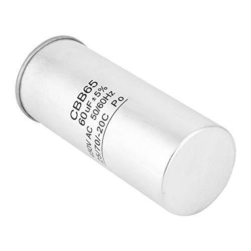 Condensador de funcionamiento del motor LANTRO JS-CBB65 450V AC 60uF, condensador de arranque 50/60Hz para compresor de aire acondicionado