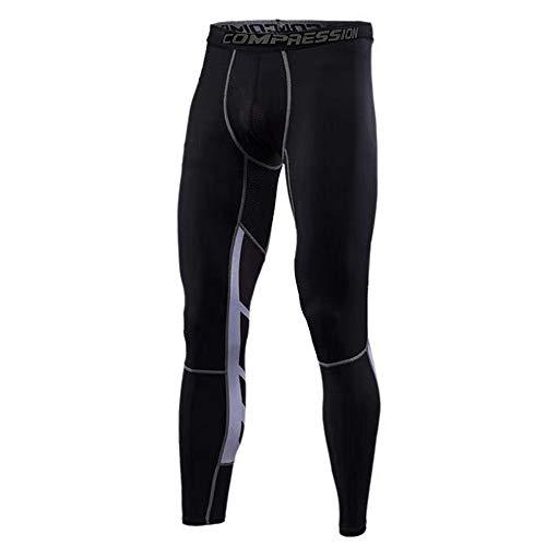 JEPOZRA Leggings Hombre Pantalones Deportivos Hombre Sundried Medias Entrenamiento,Pantalón de Compresión Secado Rápido Pantalones Deporte Mallas Largas para Running Fitness Yoga