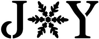 Joy Stencil by StudioR12   Vintage Serif Snowflake Word Art   Reusable Mylar Template   Painting, Chalk, Mixed Media   Use for Journaling, DIY Home Decor   Select Size (17