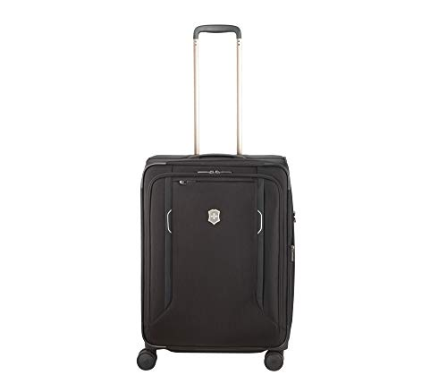 Victorinox WT 6.0 Softside Spinner Luggage, Black, Checked-Medium...