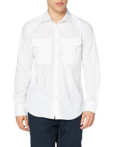 G-STAR RAW Mens Police Slim Shirt, White C271-110, L